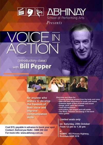 Voice in Action workshop with Bill Pepper