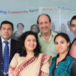 Abhinay ensemble cast with the director Terry Meller (1)