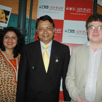 CG of Nepal, Mr. Deepak Khadka and Mr. Raj Datta with Aish at Abhinay Shorts